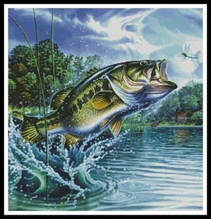 Airborne Bass (Crop) by Artecy printed cross stitch chart